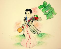 Watercolor study: Geisha by dummm