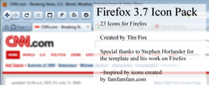 Firefox 3.7 Icon Pack 1 by timrfox