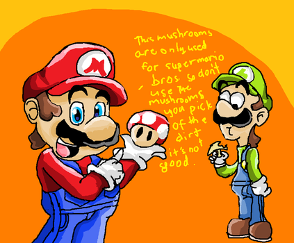 mario talks about the mushroom by supermarioguy