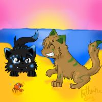 :Collab: Crab hunt by IronMeow