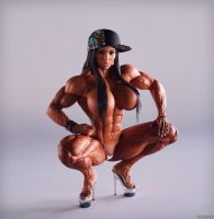 Hardbody Muscle Girl by Siberianar