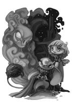 Nightmare-Black and White by zirofax