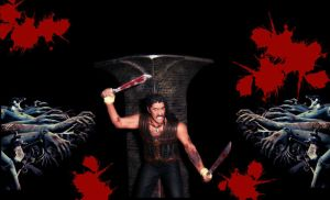 Machete Vs. The Zombie Horde by PsychosisEvermore