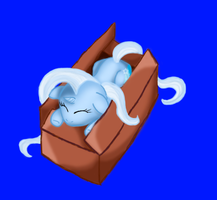 Great and Powerful Trixie in a box by NikkiNikorton
