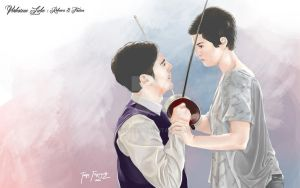 Fencing : rebecca and tristan from verbotene liebe by cgtang