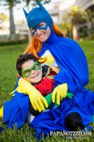 Batgirl and Robin by ComicChic19