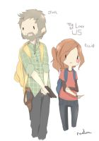 The last of us Ellie and Joel in AT style dood by cupckpo