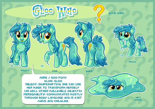 Gloo Who Ref Sheet by Centchi by ButtercupBabyPPG