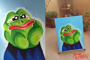 Rare Pepe Painting by TECHNlCOLOUR
