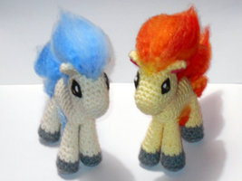 Ponyta (Finished Plushie or Pattern For Sale) by black-moon-flower