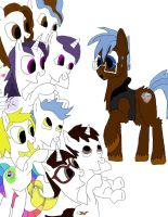 Any pony Got His Hoofs Full work 2 by daylover1313