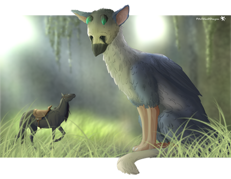 Shadow of the last Guardian by PitchblackDragon
