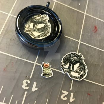 Xenomorph necklace pieces by kahahuna