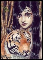 ACEO -- Fierce by ElvenstarArt