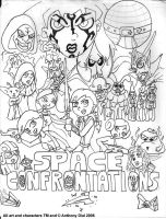 Space Confrontations by Gummibearboy