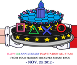 HAPPY 3rd ANNIVERSARY PLAYSTATION ALL-STARS by KambalPinoy