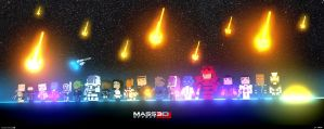 Mass Effect 3D Pixel Art by elfantasmo