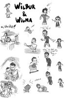 Wilbur + Wilma sketches by artificus