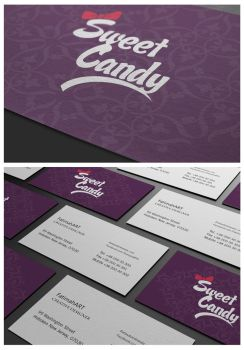SweetCandy business card by FatimahART