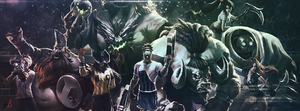 League of Legends World Cup Facebook Cover by berXamet