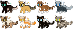 Mystery cats CLOSED by FrozenAdopts