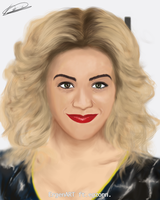 Rita Ora Digital Painting by Ergen-Art