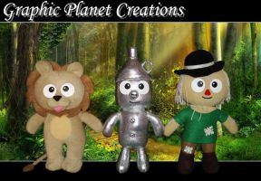 The Wizard of Oz Plushies by GraphicPlanetDesign