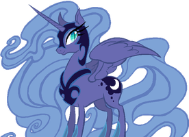 Nightmare Moon in Princess Luna's Season 1 colors by AdolfWolfed4Life