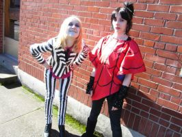 Beetlejuice and Lydia cosplay 5 by Slaughterose
