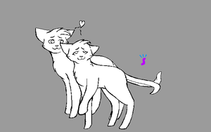 Cat Couple Lineart. by Sia-Kitty