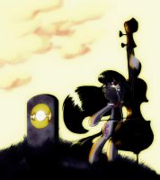 Sad Octavia - Sunset by Kaidrin1
