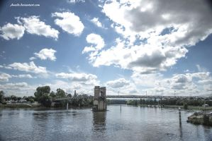 Bridge on Saone River by Aneede