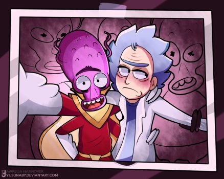 Rick n Morty.- Artrade by yusunaby