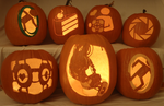 Portal Group Pumpkins in the Light by johwee