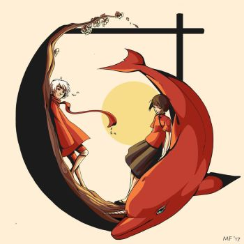 Big Fish and Begonia by Velnna