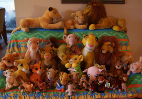 Lion King plush collection by QueenCheetah