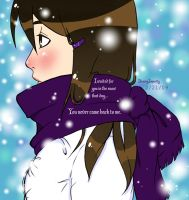 The Girl in the Purple Scarf by IllusoryImpurity
