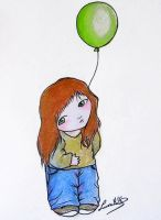 Green balloon by LauraMSS