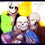 UT - Happy Birthday Sans! by Atlas-White