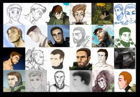 The Faces of Master Chief by RoxyRoo