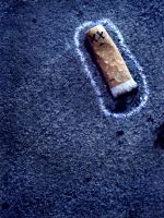 Crime Scene Ciggy by juliannechristoffel