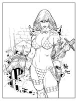 Red Sonja by jorgecopo