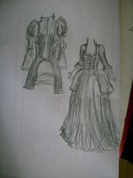 Quick sketch gown + coat by CriminalMasterbrain