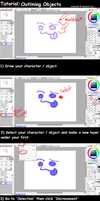 Paint Tool SAI Tutorial: Outlining by AyelaKoa22