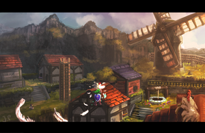 Legend of Zelda : Kakariko Village by Minionslayer