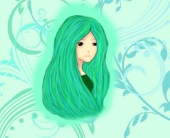 Green Girl by aamaji