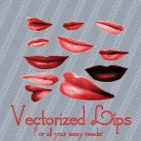 Vectorized Lips by Ladymalk