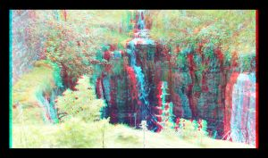 small waterfall anaglyph by Maysmum