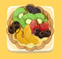 Fruit Tart 001 by marywinkler