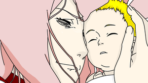 sakura with her son by Bleach-Fairy